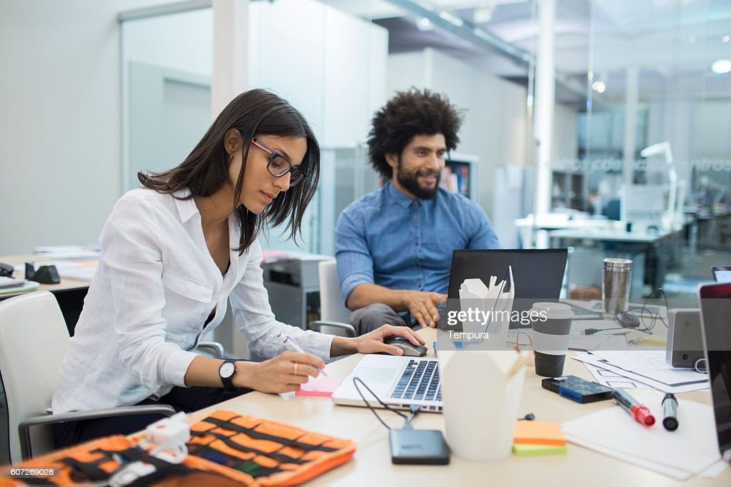 it support team programming and working as a team. : Stock Photo