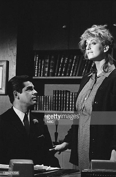 GET SMART It Takes One to Know One Episode 16 Aired 1/7/67 Pictured David Gauthier as Hymie the Robot Gayle Hunnicutt as Octavia