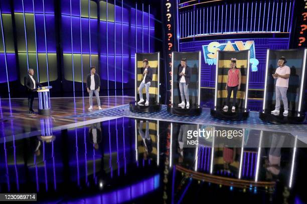 "It Takes Three To Dangle"" Episode 410 -- Pictured: Ellen DeGeneres, Ahmad Jones, Khalil Jones, Malik Jones, Kimberly Jones, Aaron Muhammad --"