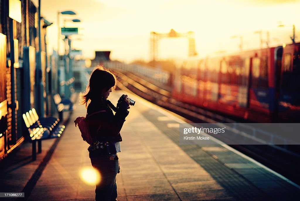 It was a beautiful evening : Stock Photo