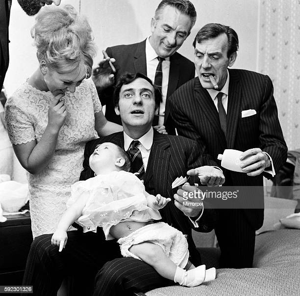 It was a day for the christening of 7 month old Kathleen Donohue at Shepperton Parish Church. Harry Corbett was the godfather and Julie Foster his...