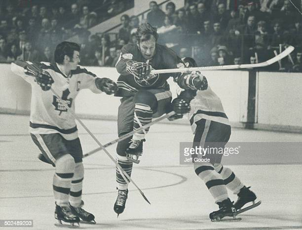 It was a dull contest Saturday night at Gardens when Leafs blanked Buffalo Sabres 20 but no one could blame former Toronto player Eddie Shack if...