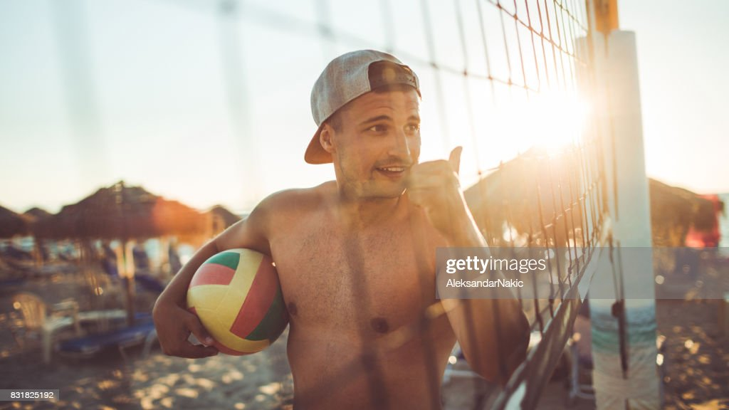 It was a good volleyball match : Stock Photo