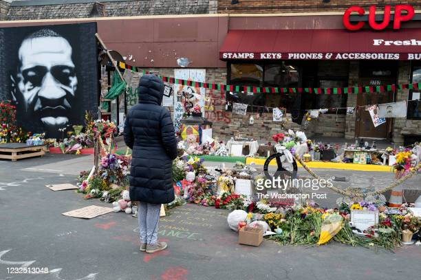 It was a quiet morning at George Floyd Square on April 21, 2021 in Minneapolis, Minnesota. This was in contrast to the celebrations and gatherings...