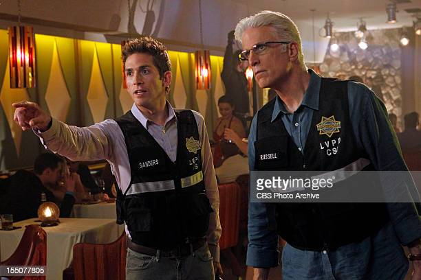It Was a Very Good Year Greg Sanders points and speaks as DB Russell listens in this scene on CSI CRIME SCENE INVESTIGATION Wednesday October 24 on...