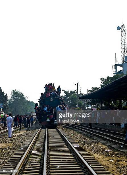 It was after Ijtema, the second largest gathering for Muslims. Hundreds of thousands people returning from Ijtema uses train as their transport to go...