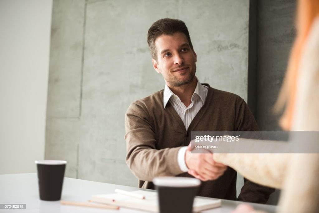 It was nice meeting you : Stock Photo