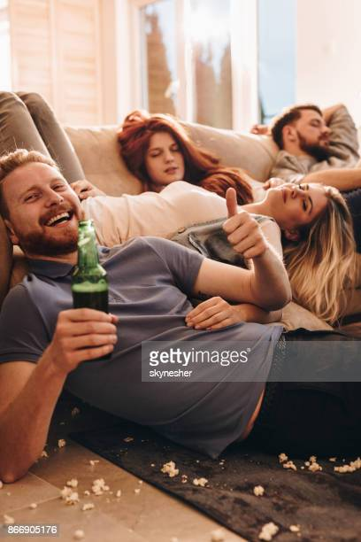 it was really good party! - messy house after party stock pictures, royalty-free photos & images