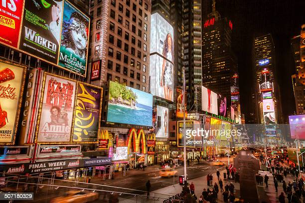 CONTENT] It was so cold this evening that not many people ventured outdoors Normally Times Square is full of people day or night and setting up a...