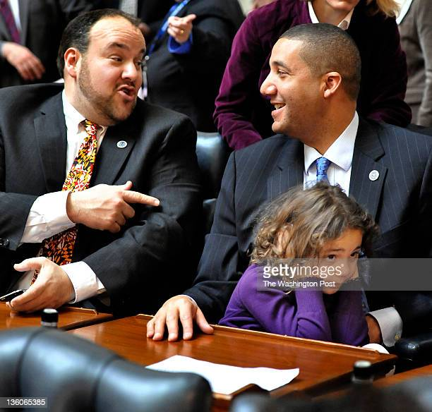 It was to loud for Kenna Mitchell6 as Delegate Luke Clippinger and her father Delegate Keiffer Mitchell Jr talked on the opening day of the Maryland...