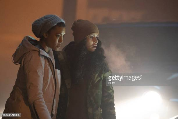 FIRE It Wasn't About Hockey Episode 714 Pictured Annie Ilonzeh as Emily Foster Miranda Rae Mayo as Stella Kidd