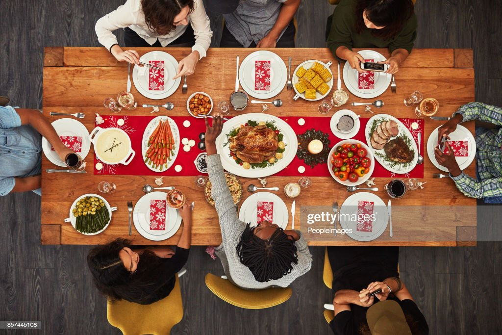 It wouldn't be a gathering without food : Stock Photo