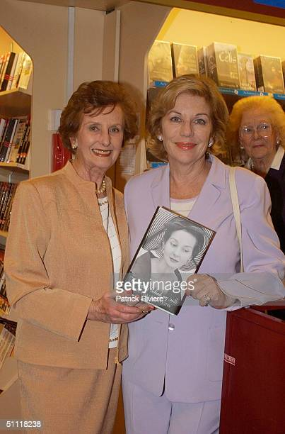 Ita Buttrose and Australia's most photographed model of the 40s and 50s June DallyWatkins launching her new book 'The Secret Behind My Smile' at...