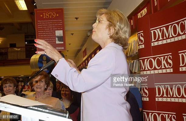 Ita Buttrose at Australia's most photographed model of the 40s and 50s June DallyWatkins launching of her new book 'The Secret Behind My Smile' at...