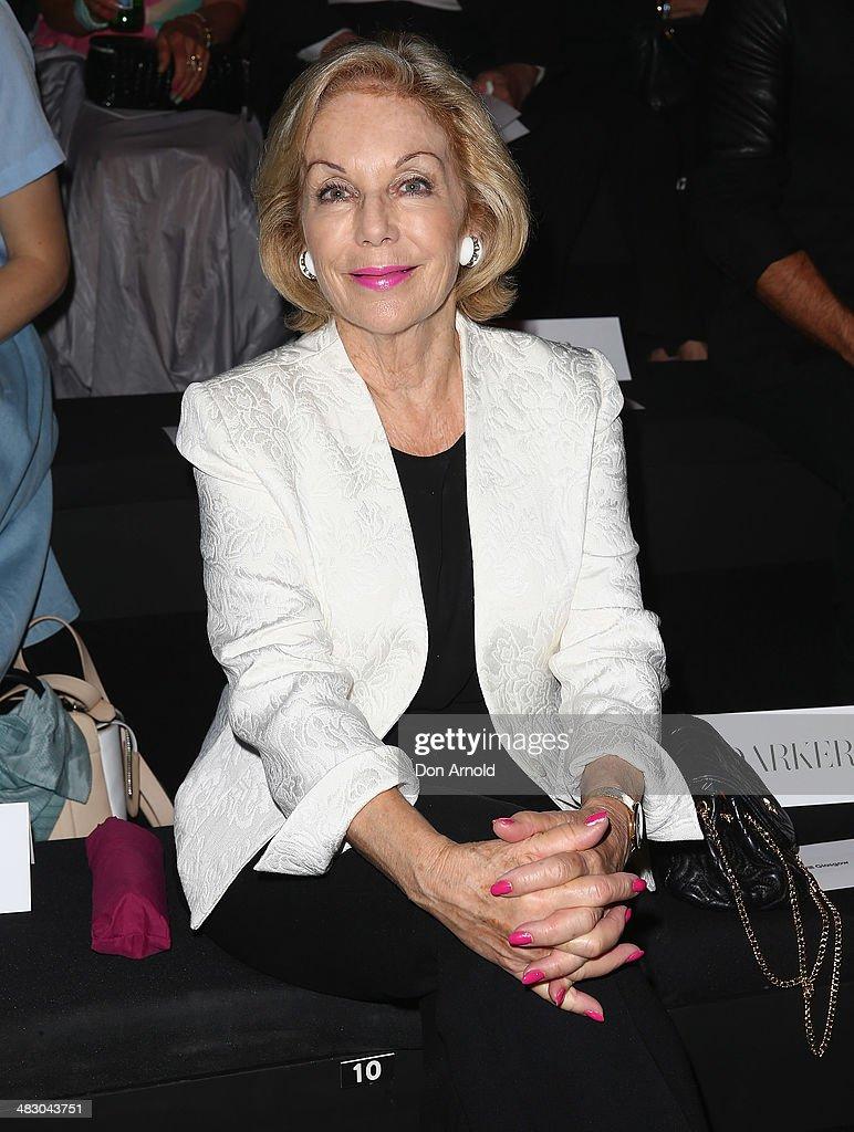 Mercedes-Benz Presents Carla Zampatti - Front Row - Mercedes-Benz Fashion Week Australia 2014