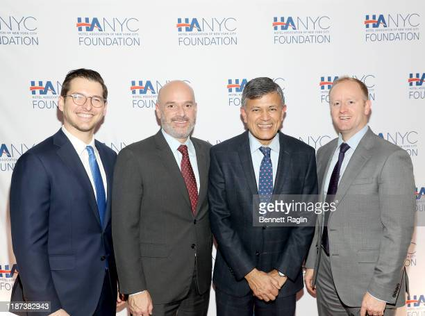 Itai Raz Todd Soloway and Vijay Dandapani Bryan Mohler attend The Red Carpet Hospitality Gala Hosted by the Hotel Association Of New York City...