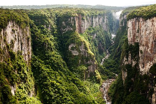 Itaimbezinho canyon cliffs in southern Brazil 618630582