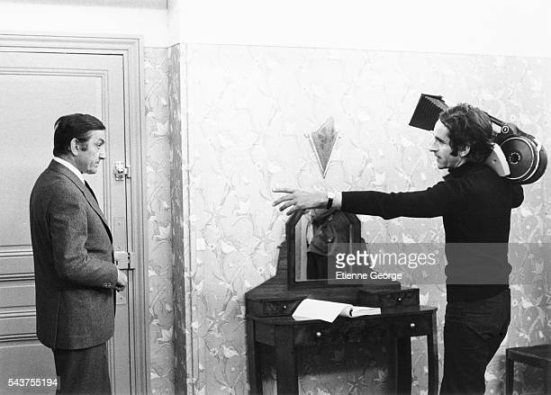 Italainborn actor Lino Ventura on the set of L'Emmerdeur directed by Edouard Molinaro and based on Francis Veber's play Le Contrat