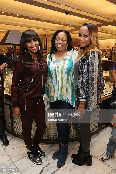 Italia Smith Ondrea Smith and Samaria Smith attend SIS By Simone I Smith Jewelry Event at Macy's Herald Square on October 25 2014 in New York City