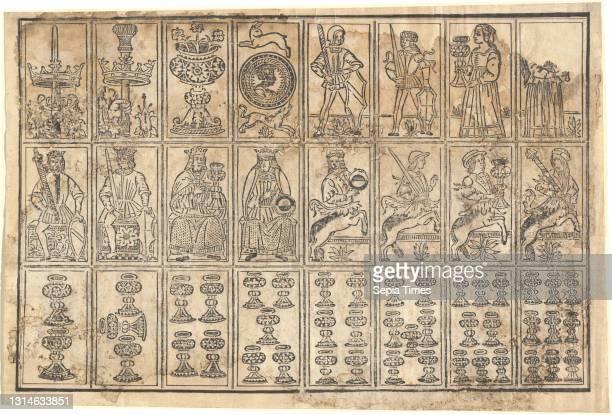 Italian 15th Century, , Playing Cards, 15th century, woodcut, sheet: 30 × 44.1 cm .