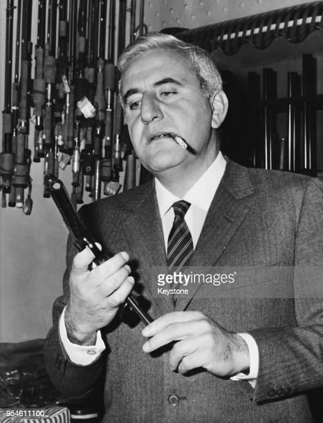 Italian actor Adolfo Celi after being cast as the villain Emilio Largo in the new James Bond film 'Thunderball' circa 1965