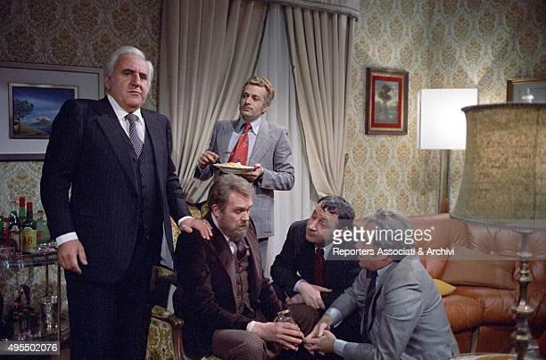 Italian actor Adolfo Celi Italian actor Gastone Moschin Italian actor Duilio Del Prete French actor Philippe Noiret and Italian actor Ugo Tognazzi...