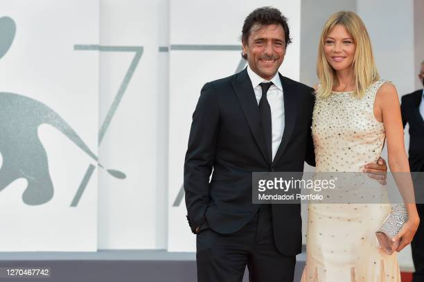 Italian actor Adriano Giannini, Gaia Trussardi at the 77 Venice International Film Festival 2020 Lacci red carpet and Opening Ceremony on September...