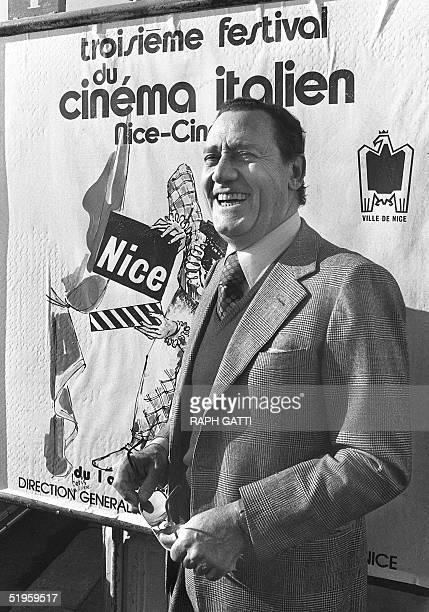 Italian actor Alberto Sordi poses for photographers during the Italian Film Festival in Nice 2 December 1981. Alberto Sordi, who began his film...