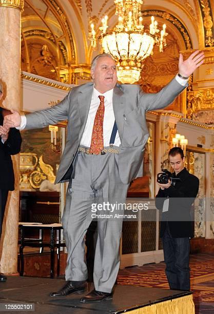 Italian actor Aldo Maccione atends the 10th Monte Carlo Film Festival at Hotel de Paris on November 27 2010 in MonteCarlo Monaco