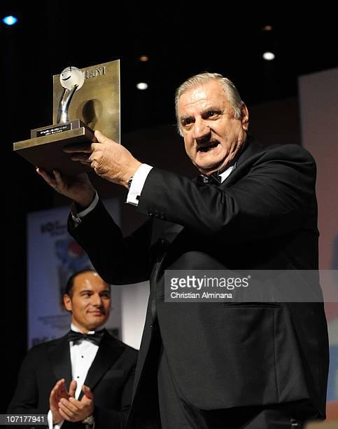R 27 Italian actor Aldo Maccione attends the Awards ceremony at Grimaldi Forum on November 27 2010 in MonteCarlo Monaco