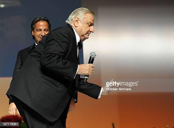 Italian actor Aldo Maccione attends the Awards ceremony at Grimaldi Forum on November 27 2010 in MonteCarlo Monaco