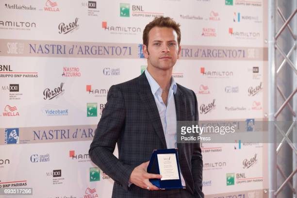 Italian actor Alessandro Borghi during the photocall of the announcement of nominations to Nastri D'Argento 2017