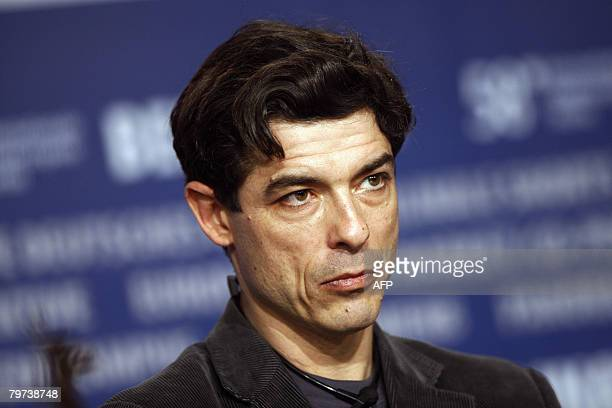 Italian actor Alessandro Gassman son of late actor Vittorio Gassman addresses a press conference about the film Caos Calmo by Italian director...