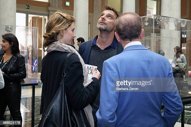 Italian Actor Alessandro Preziosi and fianc Greta Carandini attend the official opening of 'Martial Raysse' exhibition at Palazzo Grassi on April 11...