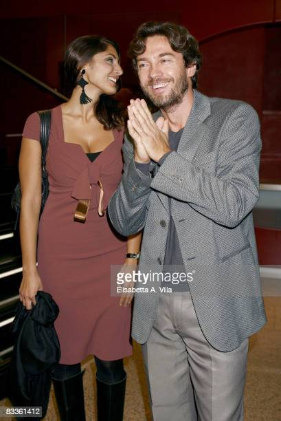 Italian actor Alessio Boni and a guest attend 'La Chioma di Berenice' Cinema Awards on October 20 2008 in Rome Italy