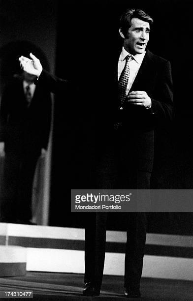 Italian actor and comedian Walter Chiari acting in Nude Look Brescia 1971