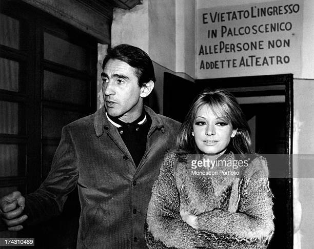 Italian actor and comedian Walter Chiari with his wife Italian actress and singer Alida Chelli Italy 1960s