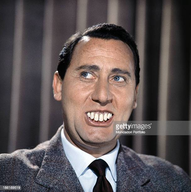 Italian actor and director Alberto Sordi acting with false teeth in the segment Guglielmo il Dentone from the film Complexes 1965