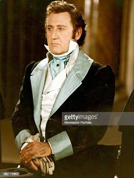 Italian actor and director Alberto Sordi wearing an elegant jacket in the film The Marquis of Grillo. 1981.