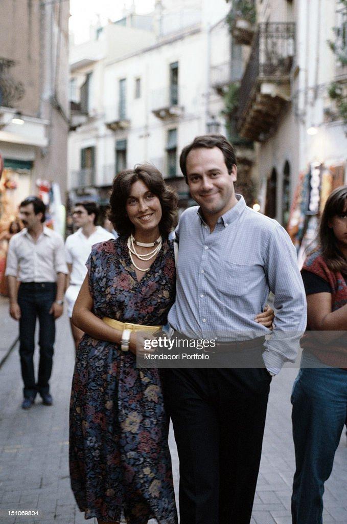 Carlo Verdone with Gianna Scarpelli : Foto di attualità