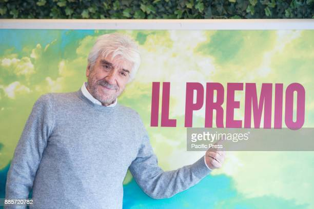 Italian actor and director Gigi Proietti during the Photocall of the Italian movie 'Il Premio' directed by Alessandro Gassmann at the Hotel Bernini...