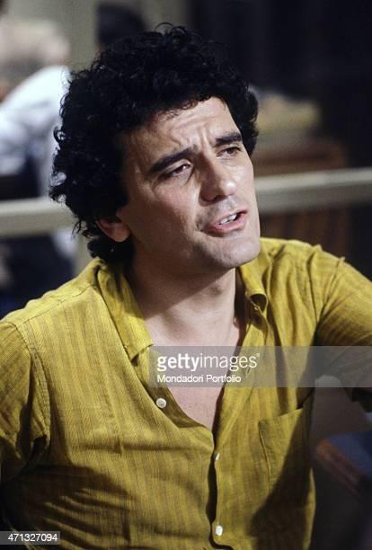 Italian actor and director Massimo Troisi acting in the film No grazie il caffmi rende nervoso 1982