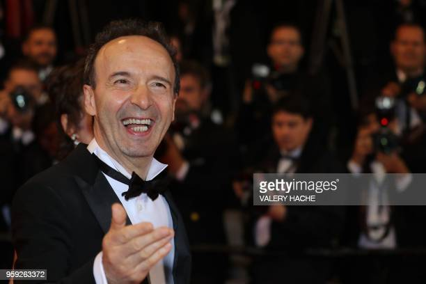 TOPSHOT Italian actor and director Roberto Benigni arrives on May 16 2018 for the screening of the film Dogman at the 71st edition of the Cannes Film...