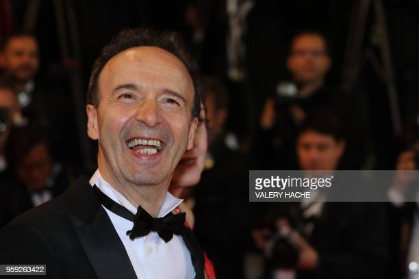Italian actor and director Roberto Benigni arrives on May 16 2018 for the screening of the film Dogman at the 71st edition of the Cannes Film...