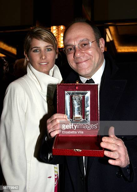 Italian actor and filmaker Carlo Verdone with his daughter Giulia pose with the Nastro D'Argento on the Italian Movie Awards presented by the...