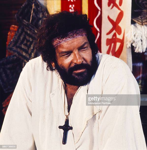 Italian actor and professional swimmer Bud Spencer in the film 'Turn the Other Cheek' He played in plenty of successful films together with Italian...