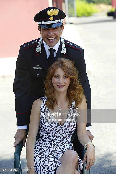 Italian actor and Tv presenter Flavio Insinna and Italian actress and showgirl Milena Miconi as the Captain of Carabinieri and the maior of the city...