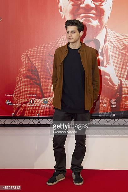 Italian actor Andrea Arcangeli attends the 'Tempo Instabile Con Probabili Schiarite' Film Press Conference during the Bifst Bari International Film...