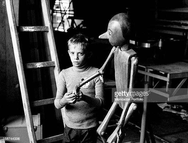 Italian actor Andrea Balestri playing Pinocchio in the Tv miniserie The Adventures of Pinocchio 1970s