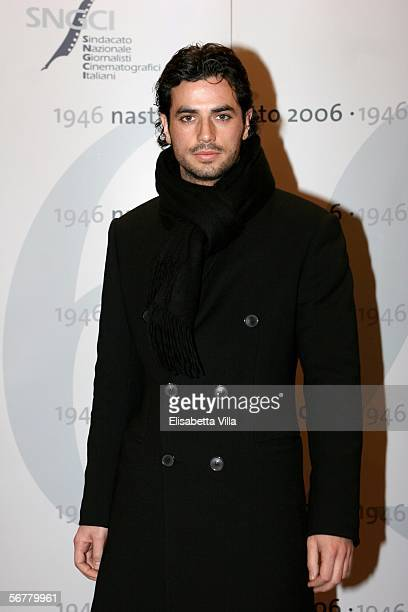 Italian actor Antonio Cupo attends the Nastri D'Argento Ceremony at The Auditorium on February 7 2006 in Rome Italy